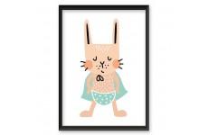 "Plakat z królikiem ""Hero Rabbit"""
