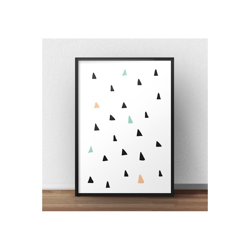 Poster for children Triangles