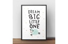 """Plakat z owcą """"Dream big"""""""