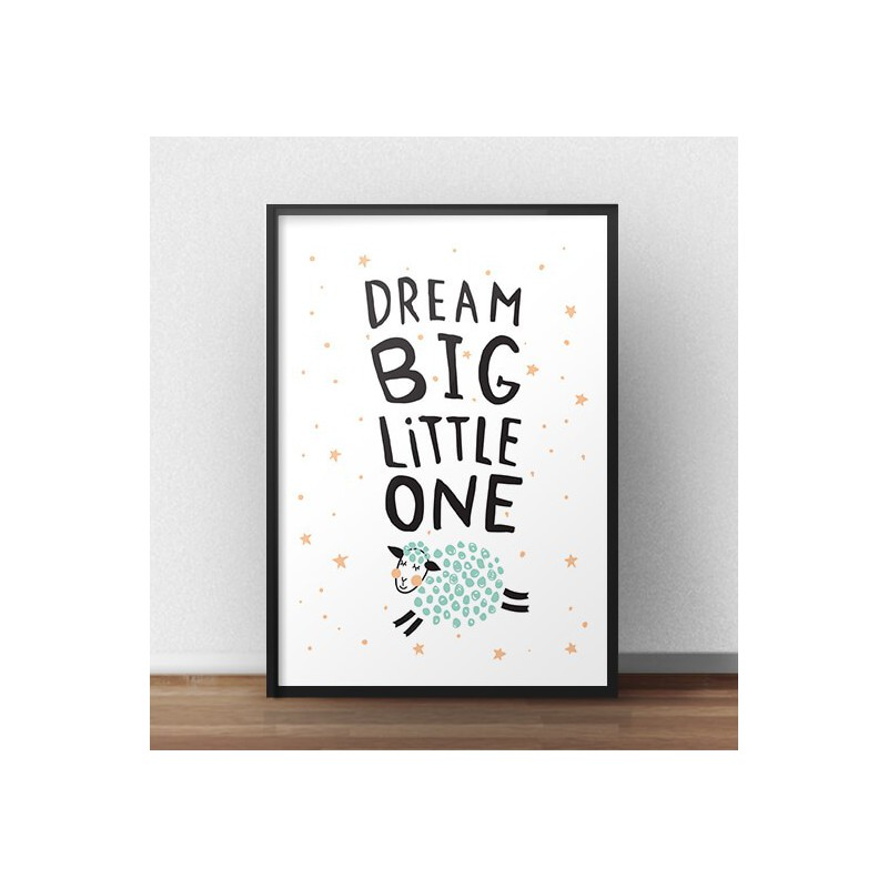 "Plakat z owcą ""Dream big"""