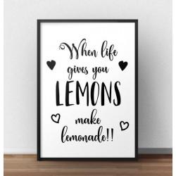 "Plakat motywacyjny ""Lemoniade"""