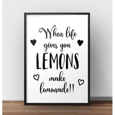 """Plakat motywacyjny """"Lemonade"""""""