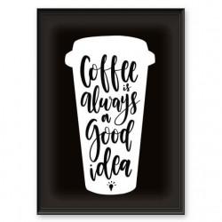 """Plakat typograficzny """"Coffee good idea"""""""