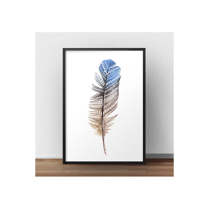 Decorative poster Ethnic feather