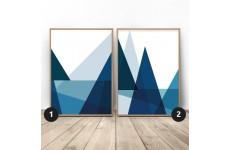 Zestaw 2 plakatów geometrycznych bazujących na trójkącie