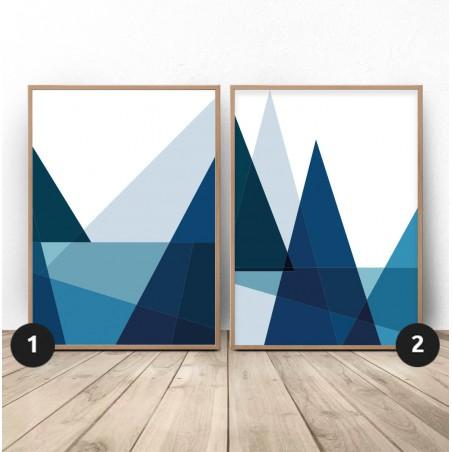 Zestaw 2 plakatów geometrycznych