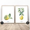 Zestaw 2 plakatów z cytryną idealny do Twojego mieszkania
