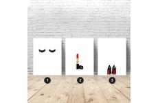 Zestaw 3 plakatów fashionistki - kombinacja w rozmiarze 61x91, 40x50 oraz 30x40