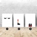 Zestaw 3 plakatów fashionistki - kombinacja w rozmiarze 61x91, 40x50 oraz 30x40 1