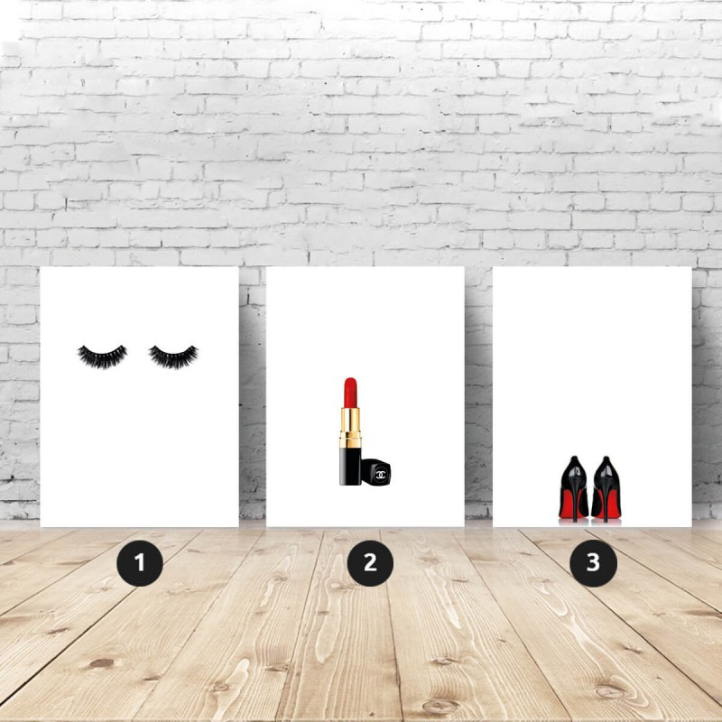 Set of 3 fashionista posters