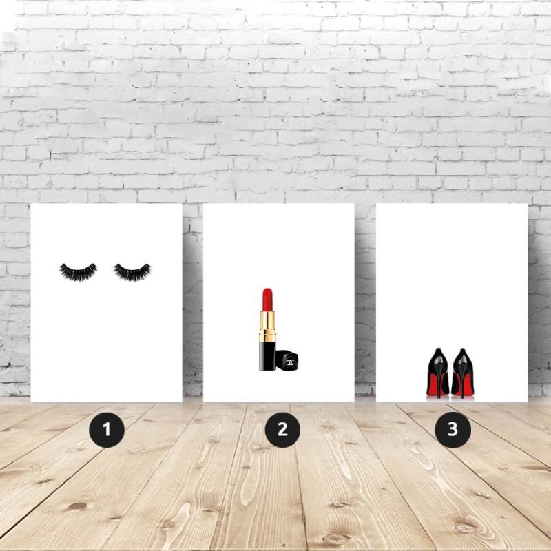 Zestaw 3 plakatów fashionistki