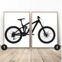 Enduro Downhill Bike Poster Set