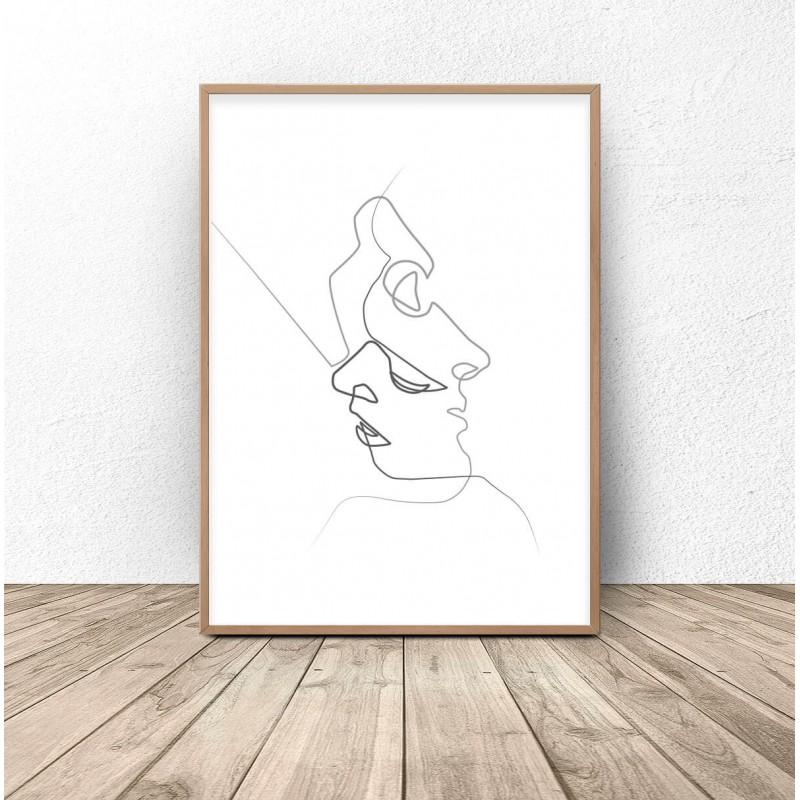 """Plakat nowoczesny """"Twarzą w twarz"""""""