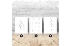 Zestaw 3 plakatów minimalistycznych
