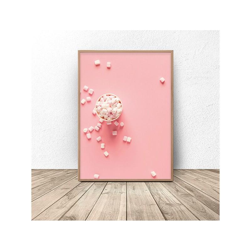 Plakat na ścianę z piankami Marshmallow