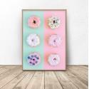 Plakat na ścianę z pączkami Donuts