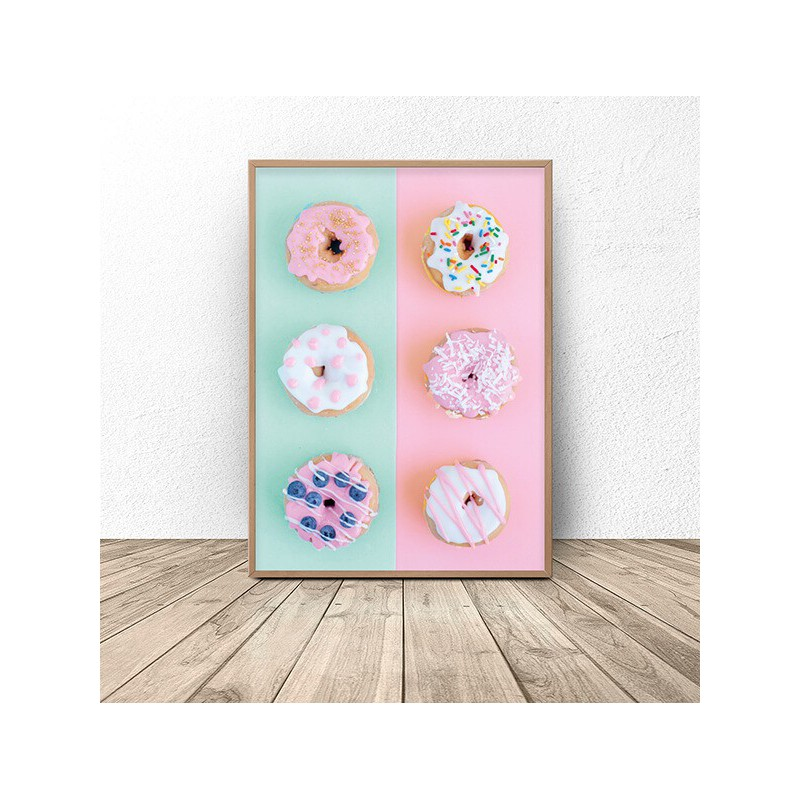 Poster for the wall with donuts Donuts