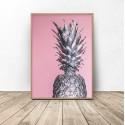 "Plakat na ścianę ""Srebrny ananas"""