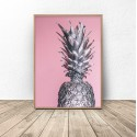 Poster for the wall Silver pineapple