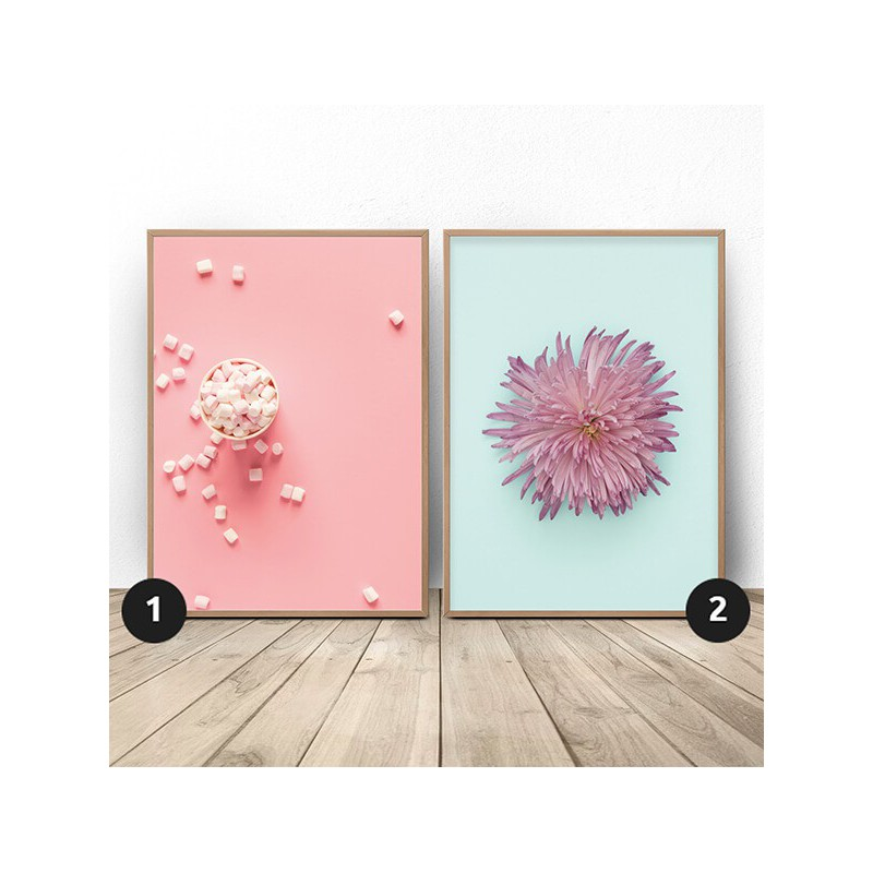 Poster set Chrysanthemum and foam