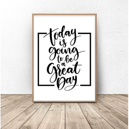"Plakat z napisem ""Great day"""