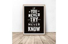 """Plakat z napisem """"Your only limit is you"""""""