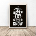 Motivational poster If you never try