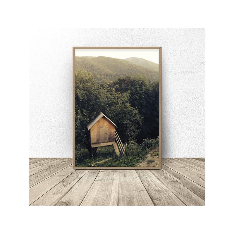 Scandinavian poster Forest Hut