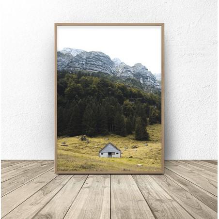 """Skandynawski plakat """"Domek w górach"""""""