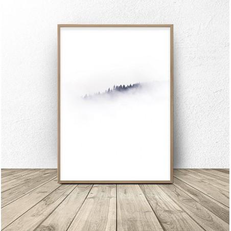 """Plakat na ścianę """"Las w głębokiej mgle"""""""
