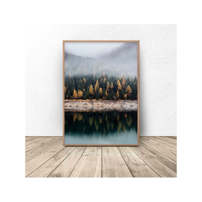 Scandinavian poster Autumn forest