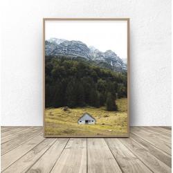 """Zestaw 2 plakatów """"Domek w lesie"""""""