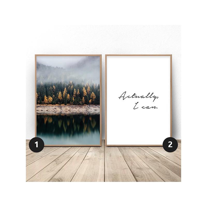 Set of 2 posters Autumn Motivation