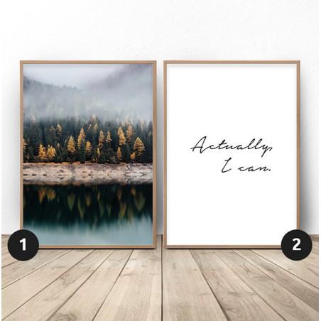 """Zestaw 2 plakatów """"Jesienna motywacja"""""""