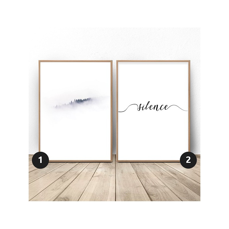 Set of 2 posters Dominant White