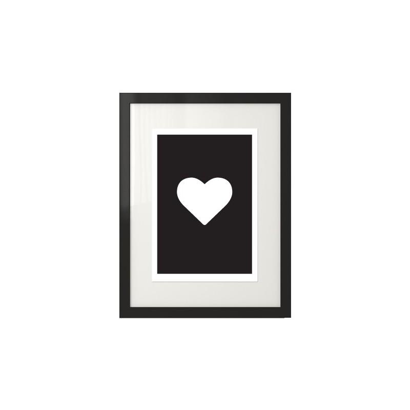 Black heart poster Heart