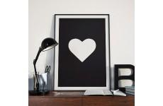 "Czarny plakat z sercem ""Heart"""