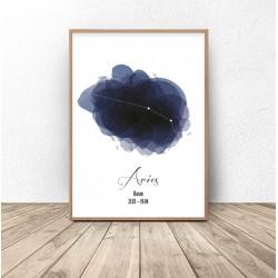 "Plakat ze znakiem zodiaku ""Baran"""