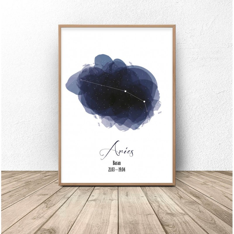Poster with the constellation Aries