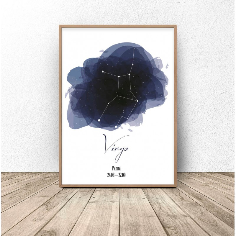 Poster with the constellation Viru