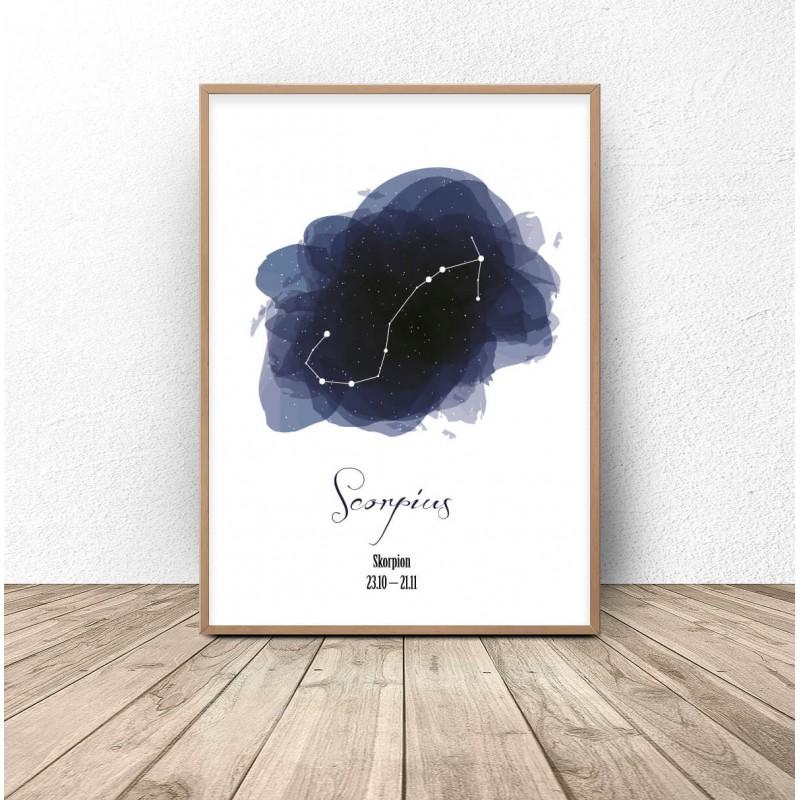 """Plakat z gwiazdozbiorem """"Skorpiona"""""""