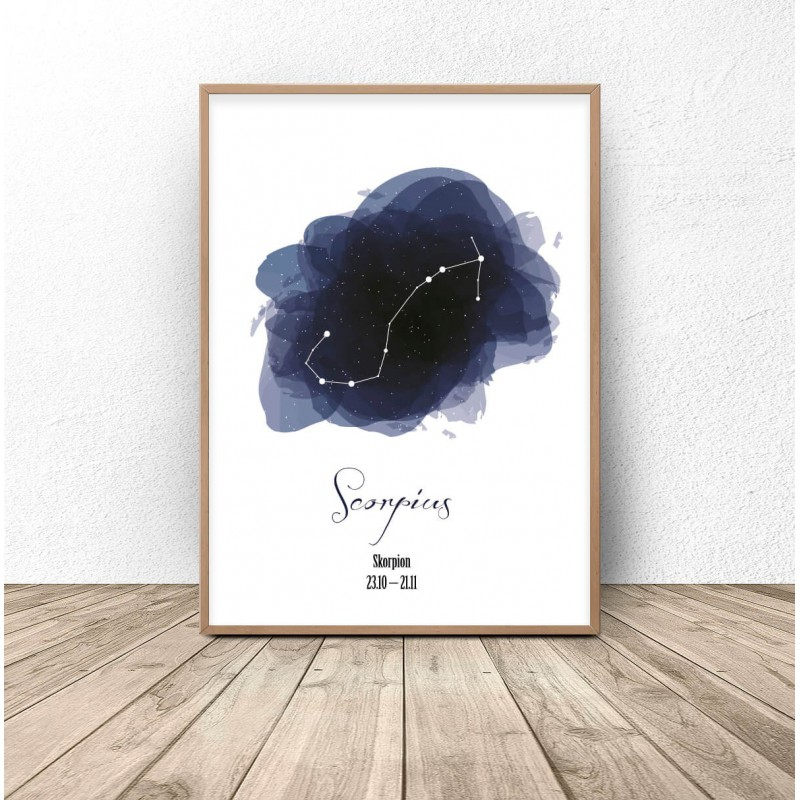 Poster with the constellation Scorpio