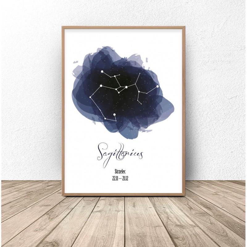Poster with the constellation Sagittarius