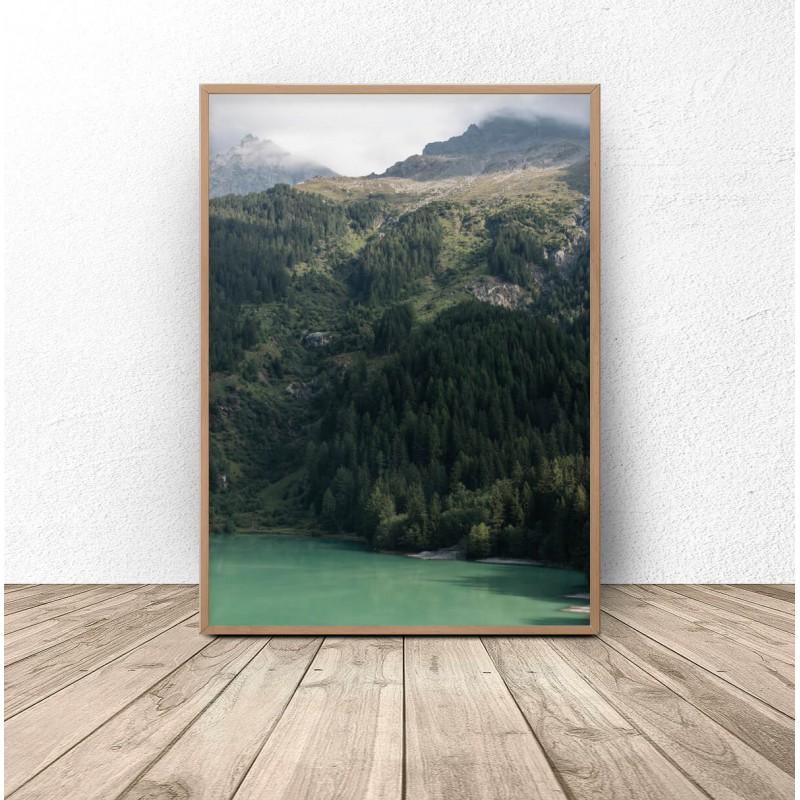 """Plakat na ścianę """"Zalesione góry"""""""