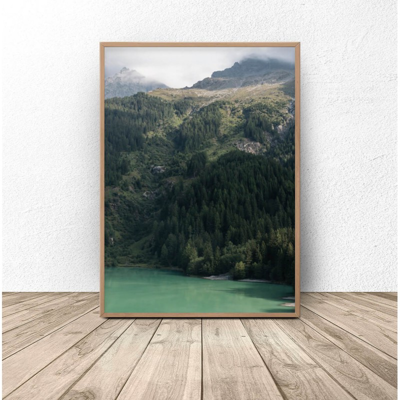 Poster for the wall Wooded mountains