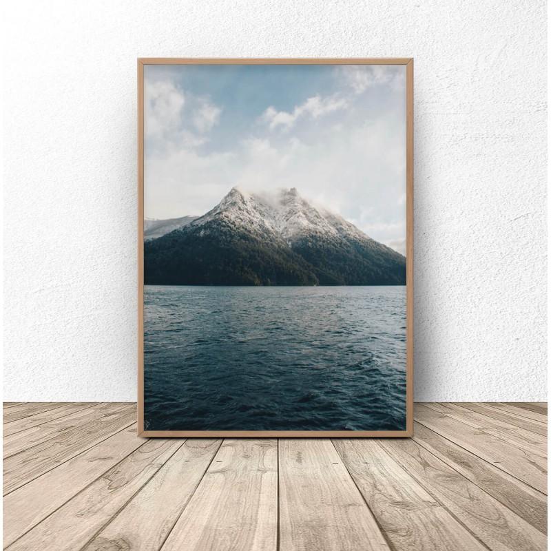 Skandynawski plakat Góra