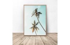 """Plakat nowoczesny """"Kolorowe palmy"""""""