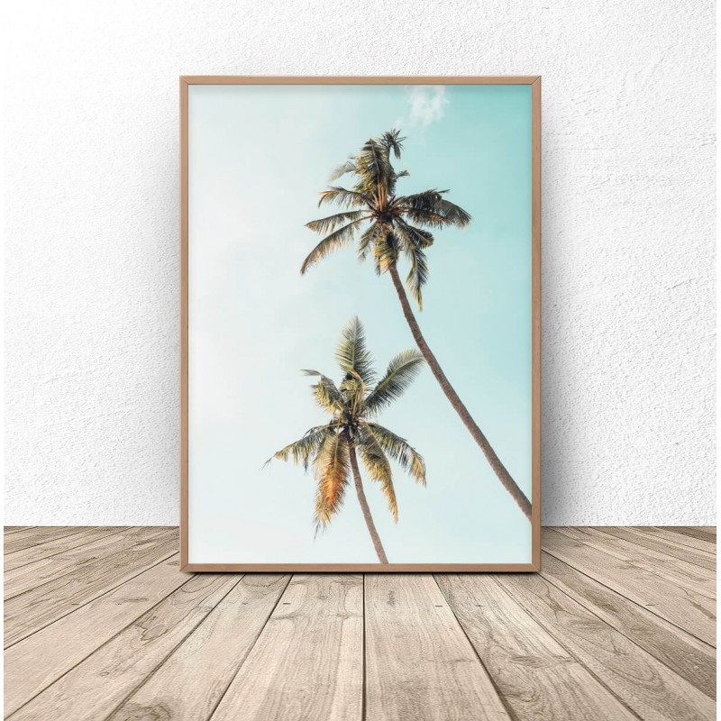 Modern poster Colorful palm trees