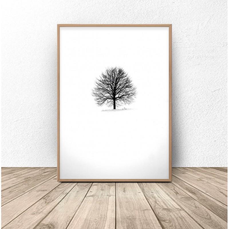 Minimalist poster Lonely Tree