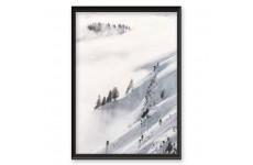 """Plakat minimalistyczny """"Las otulony śniegiem"""""""
